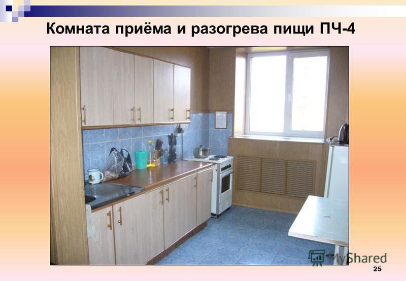 25 Комната приёма и разогрева пищи ПЧ-4