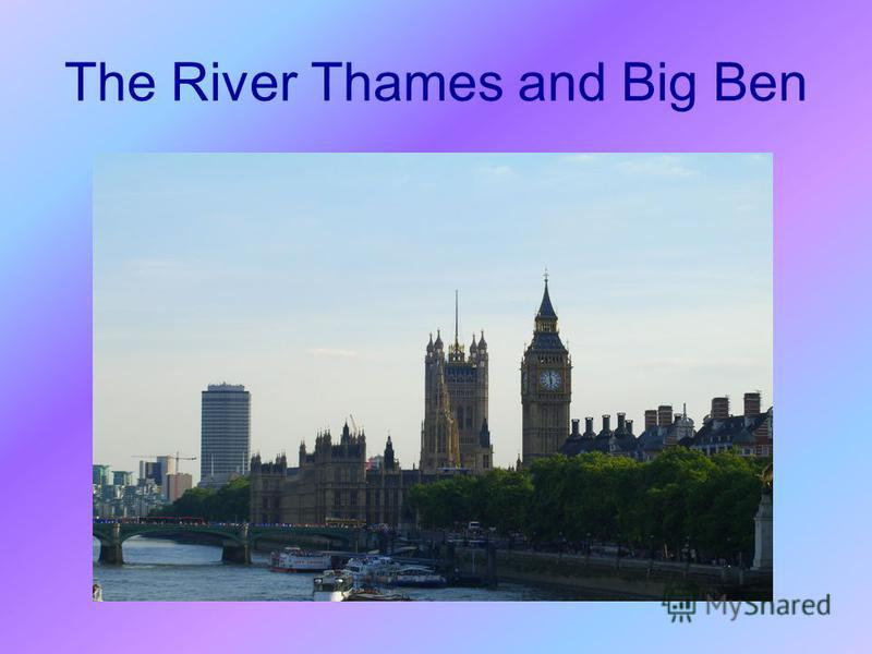 The River Thames and Big Ben