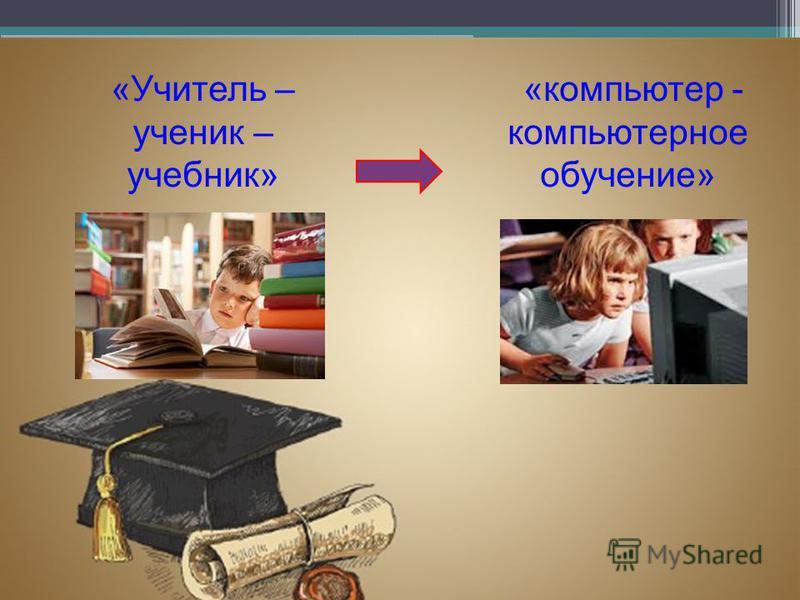 «Учитель – ученик – учебник» «компьютер - компьютерное обучение»