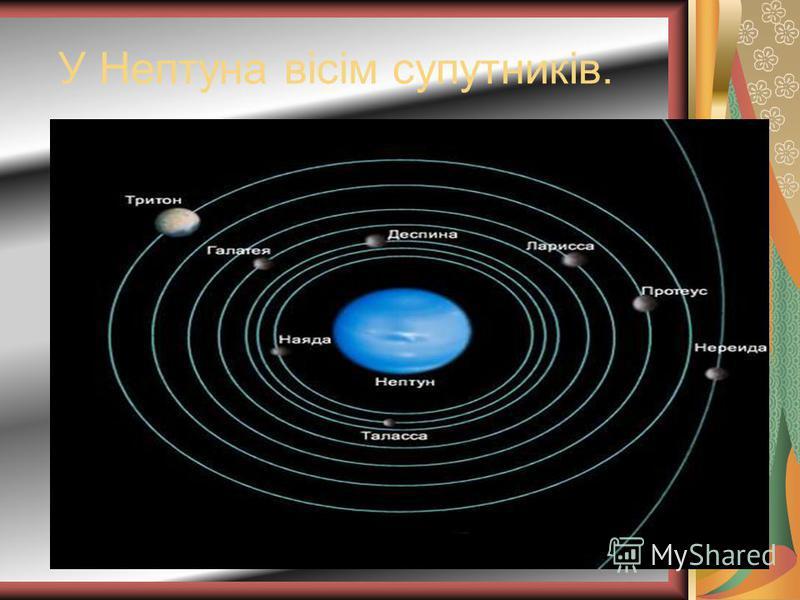 У Нептуна вісім супутників.