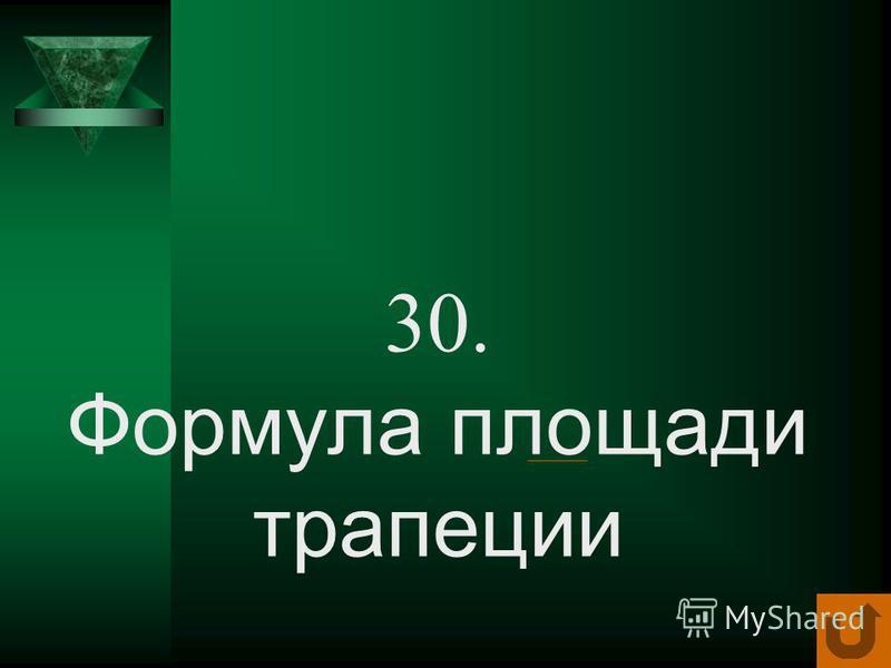20. Формула площади параллелограмма