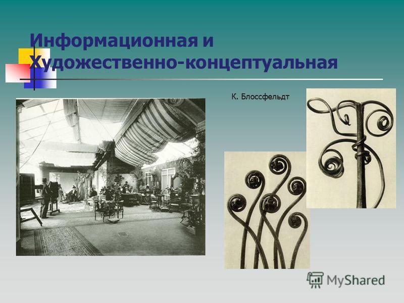 Информационная и Художественно-концептуальная К. Блоссфельдт