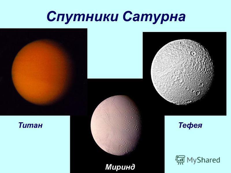 Спутники Сатурна Титан Тефея Миринд