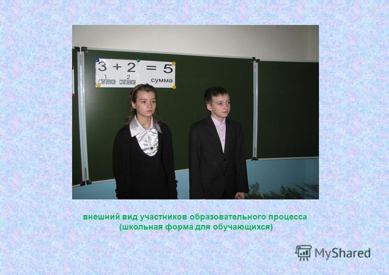 внешний вид участников образовательного процесса (школьная форма для обучающихся)