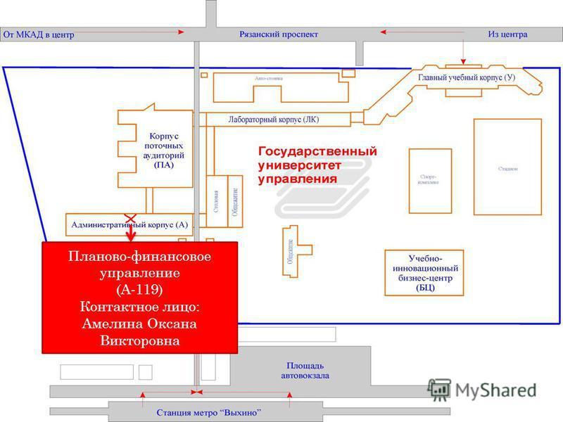 Планово-финансовое управление (А-119) Контактное лицо: Амелина Оксана Викторовна