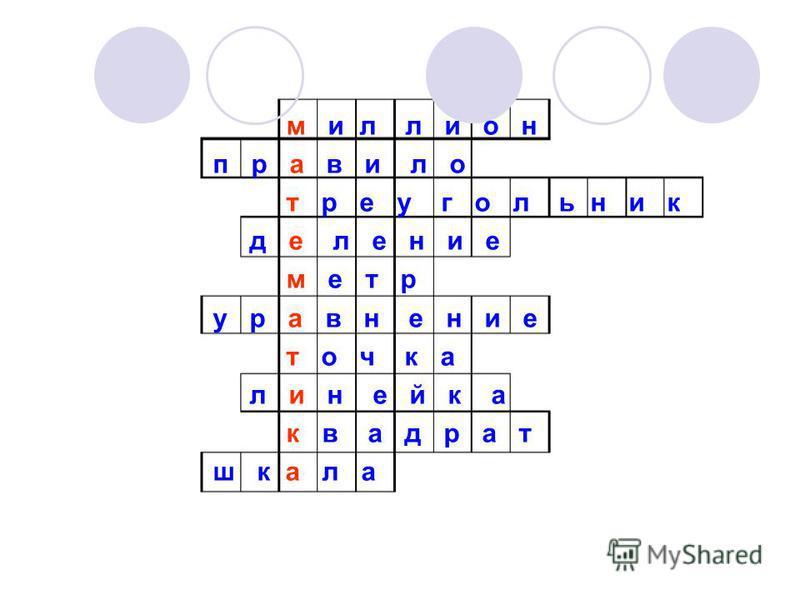 м и л л и о н п р а в и л о треугольник д е л е н и е м е т р у р а в н е н и е т о ч к а линейка к в а д р а т ш к а л а