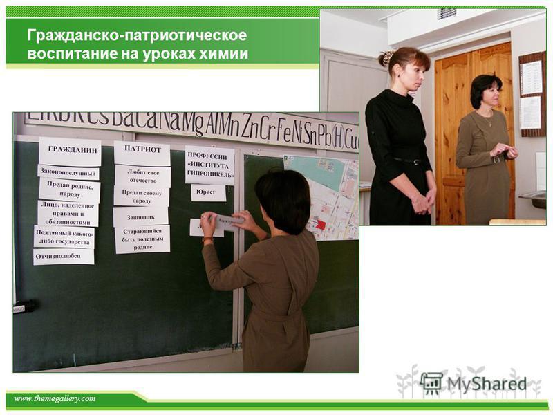 www.themegallery.com Гражданско-патриотическое воспитание на уроках химии