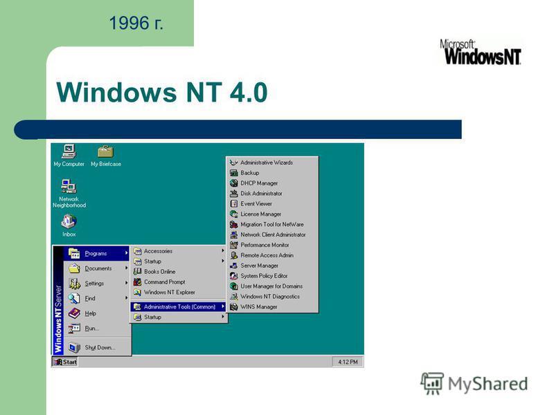 Windows NT 4.0 1996 г.