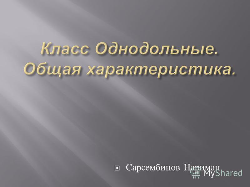 Сарсембинов Нариман