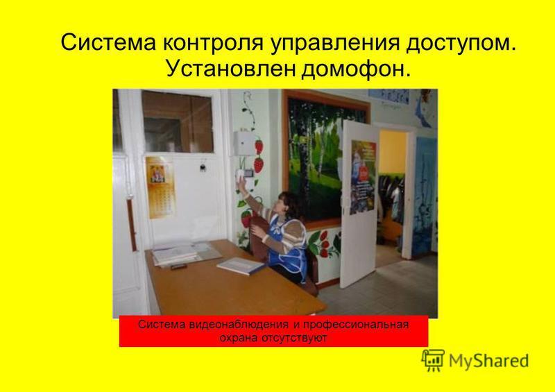 Система контроля управления доступом. Установлен домофон. Система видеонаблюдения и профессиональная охрана отсутствуют
