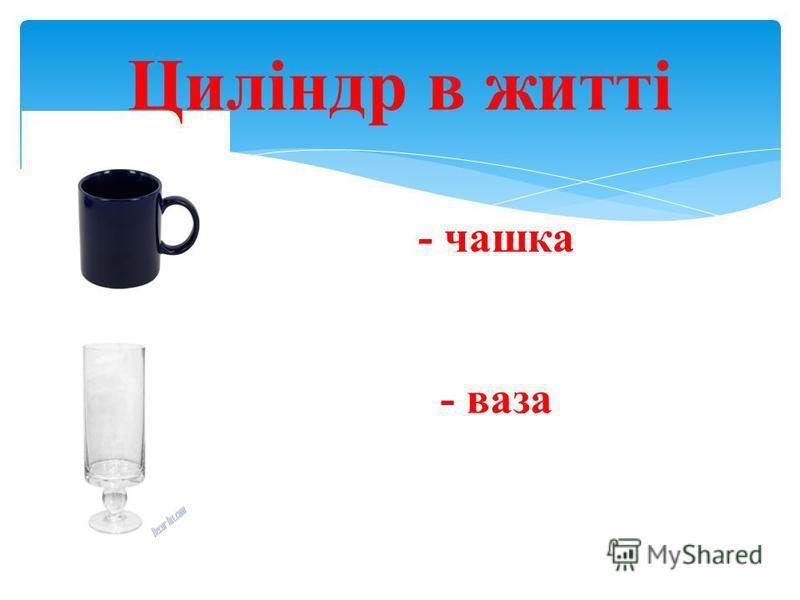 Циліндр в житті - чашка - ваза