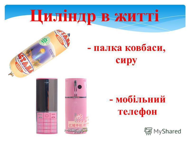 Циліндр в житті - палка ковбаси, сиру - мобільний телефон
