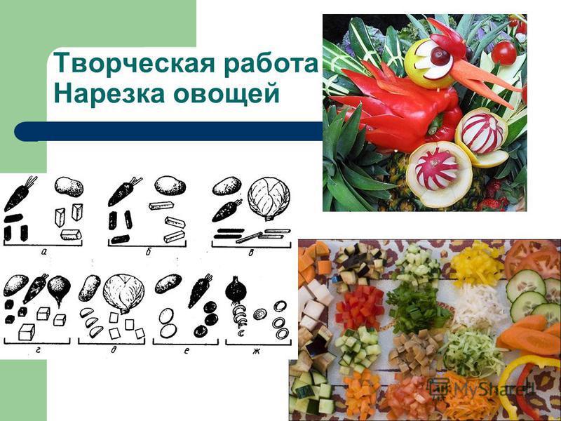 Творческая работа Нарезка овощей