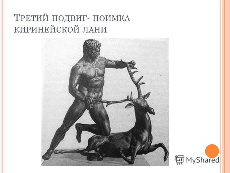 Т РЕТИЙ ПОДВИГ - ПОИМКА КИРИНЕЙСКОЙ ЛАНИ