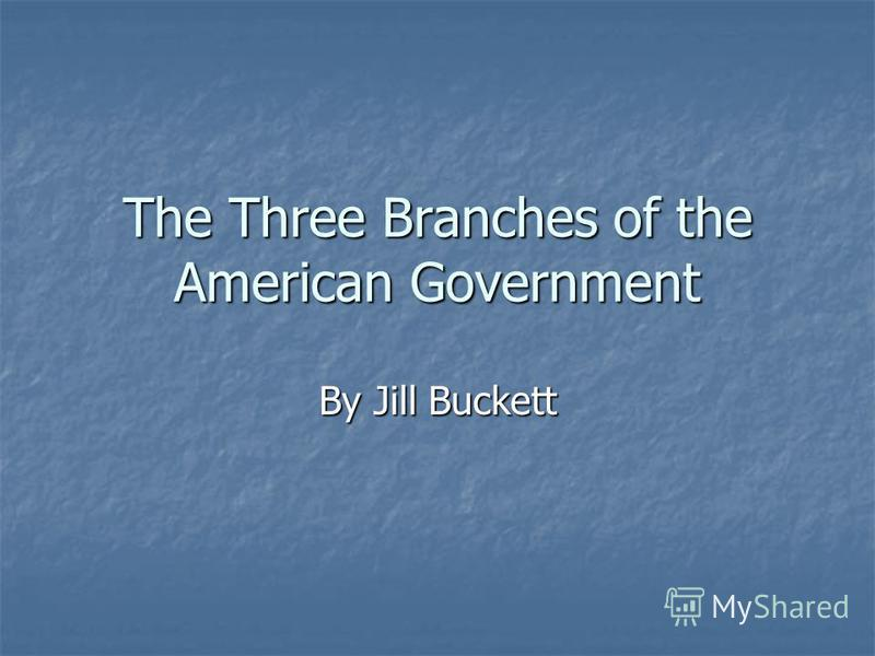 The Three Branches of the American Government By Jill Buckett