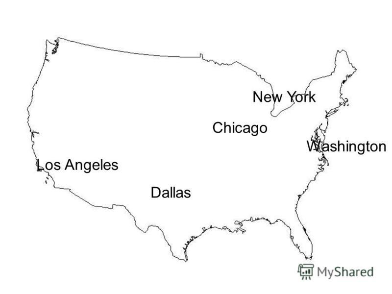 Washington Chicago Dallas New York Los Angeles