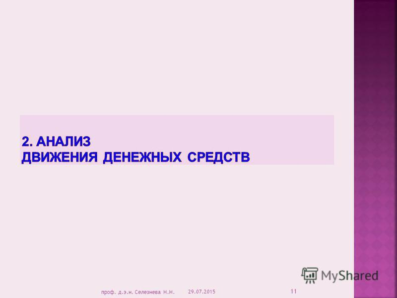 29.07.2015 11 проф. д.э.н. Селезнева Н.Н.