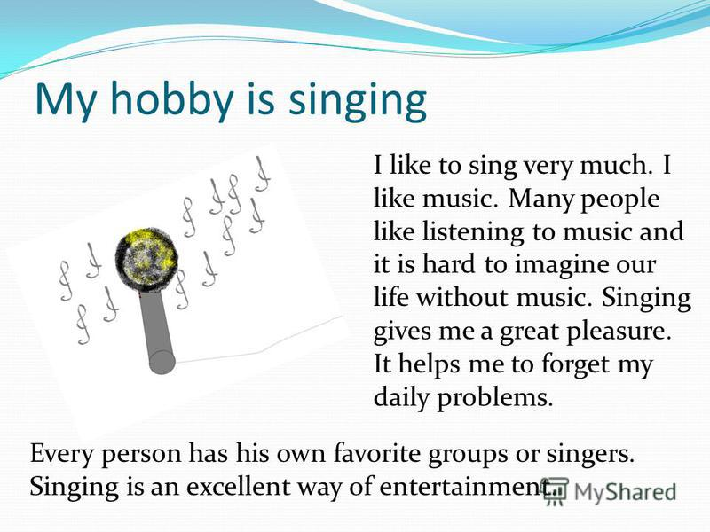 essay hobby singing Posts tagged 'short paragraph on my hobby myself and family | tags: my hobby essay for 5 years, my hobby simple essay, short paragraph on my hobby.