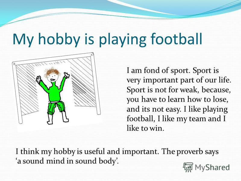 sports and hobbies essay A hobby is a regular activity that is done for enjoyment hobbies, and sport the type of hobbies that people engage in changes with time.