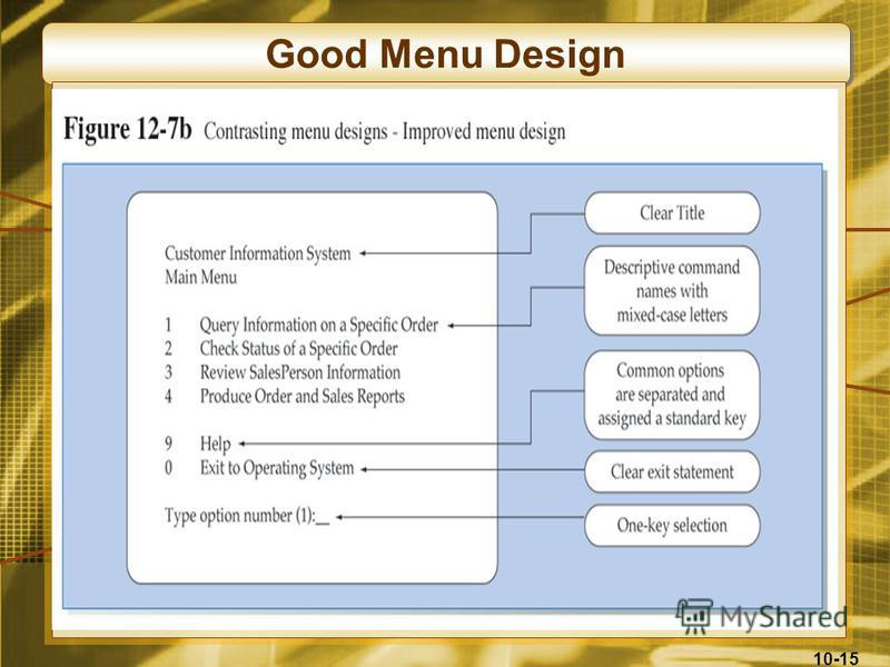 10-15 Good Menu Design