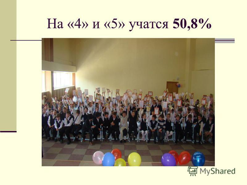 На «4» и «5» учатся 50,8%