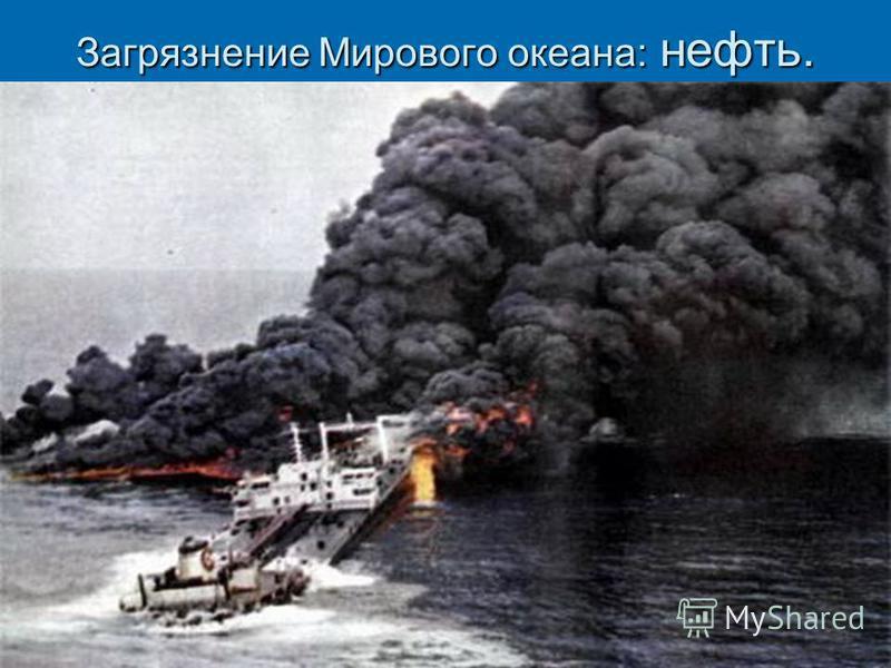 Загрязнение Мирового океана: нефть.