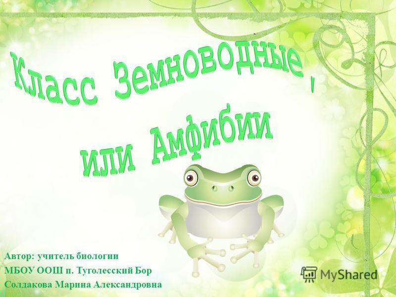 Автор: учитель биологии МБОУ ООШ п. Туголесский Бор Солдакова Марина Александровна