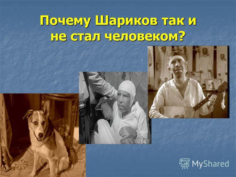 Почему Шариков так и не стал человеком?