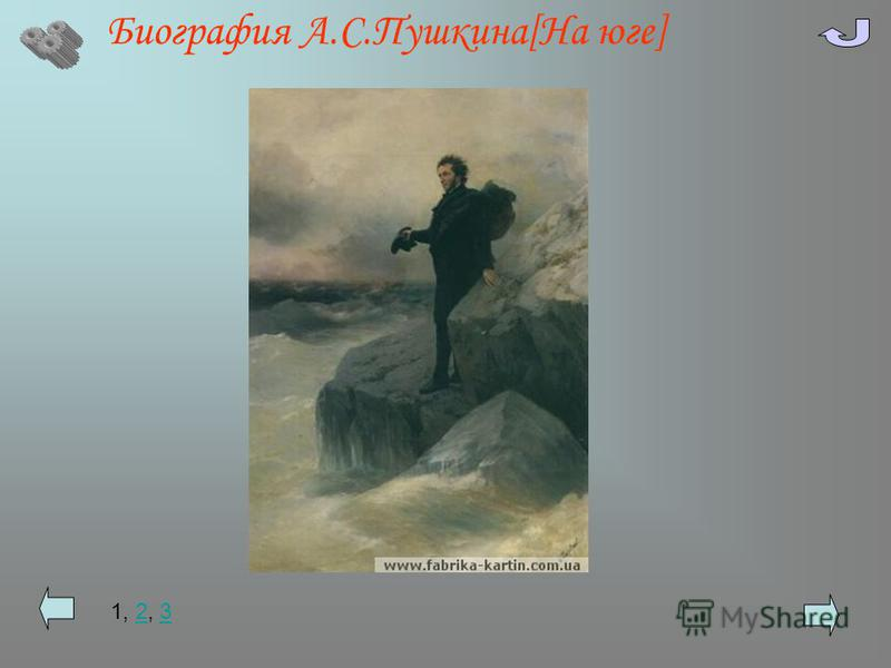Биография А.С.Пушкина[На юге] 1, 2, 323