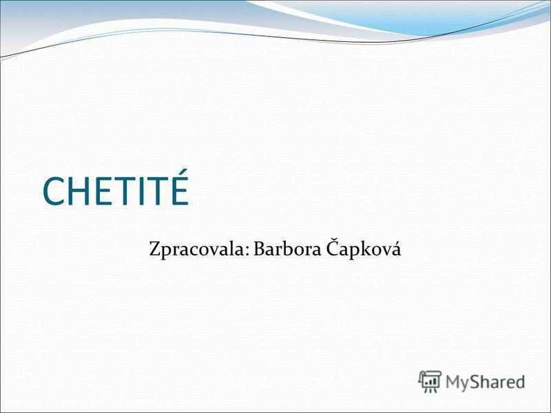 CHETITÉ Zpracovala: Barbora Čapková