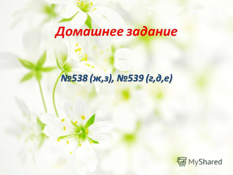 Домашнее задание 538 (ж,з), 539 (г,д,е)