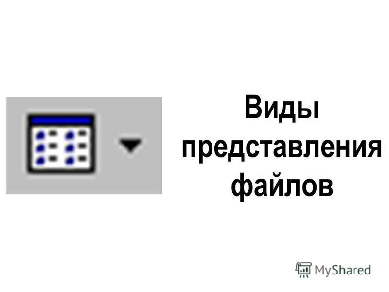 Виды представления файлов