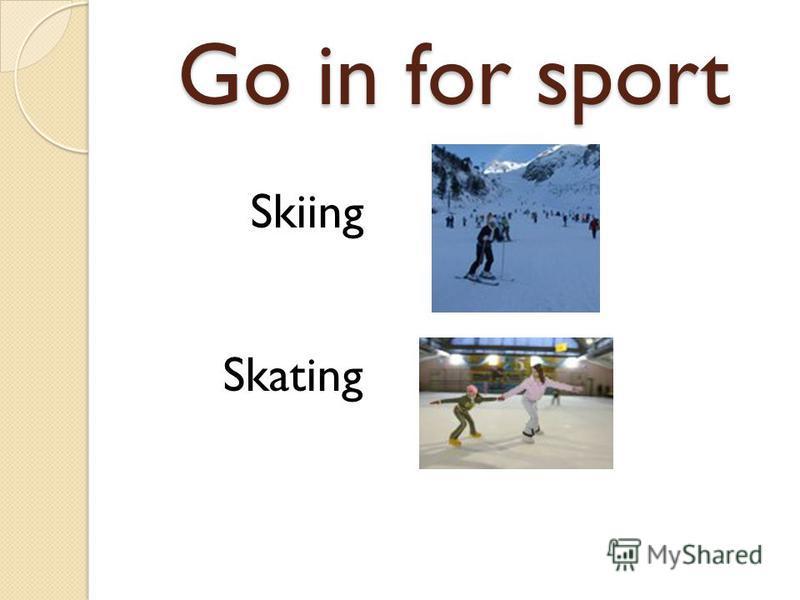 Skiing Skating