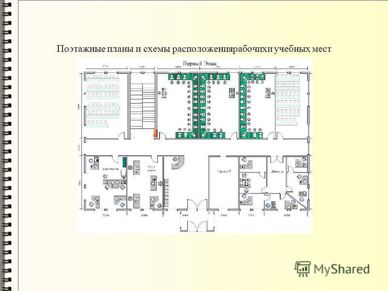 Поэтажные планы и схемы расположения рабочих и учебных мест