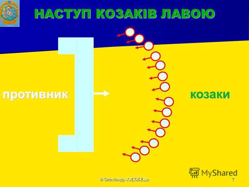 © Олександр ХУДOБЕЦЬ7 НАСТУП КОЗАКІВ ЛАВОЮ противниккозаки