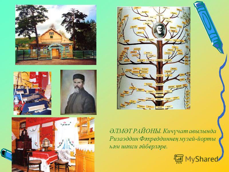 ӘЛМӘТ РАЙОНЫ. Кичүчат авылында Ризаэддин Фәхреддиннең музей-йорты һәм шәхси әйберләре.