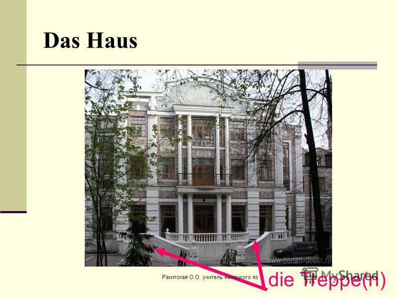 Das Haus die Treppe(n) Ракитская О.О. учитель немецкого яз