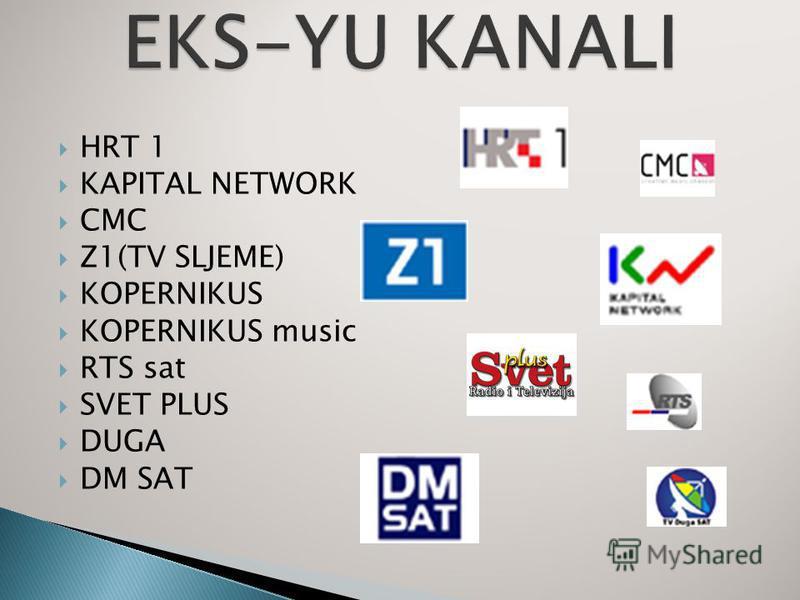 HRT 1 KAPITAL NETWORK CMC Z1(TV SLJEME) KOPERNIKUS KOPERNIKUS music RTS sat SVET PLUS DUGA DM SAT