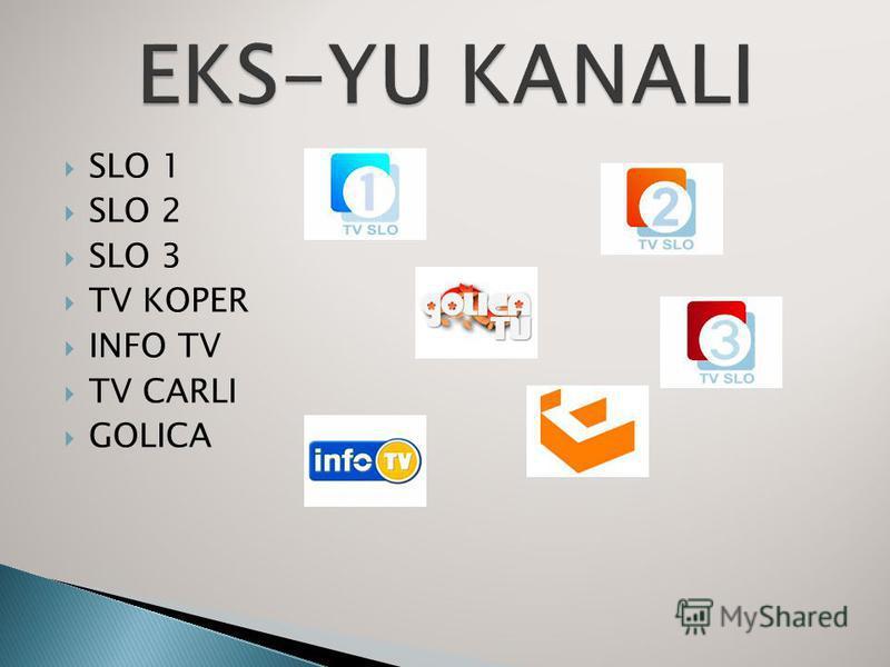 SLO 1 SLO 2 SLO 3 TV KOPER INFO TV TV CARLI GOLICA