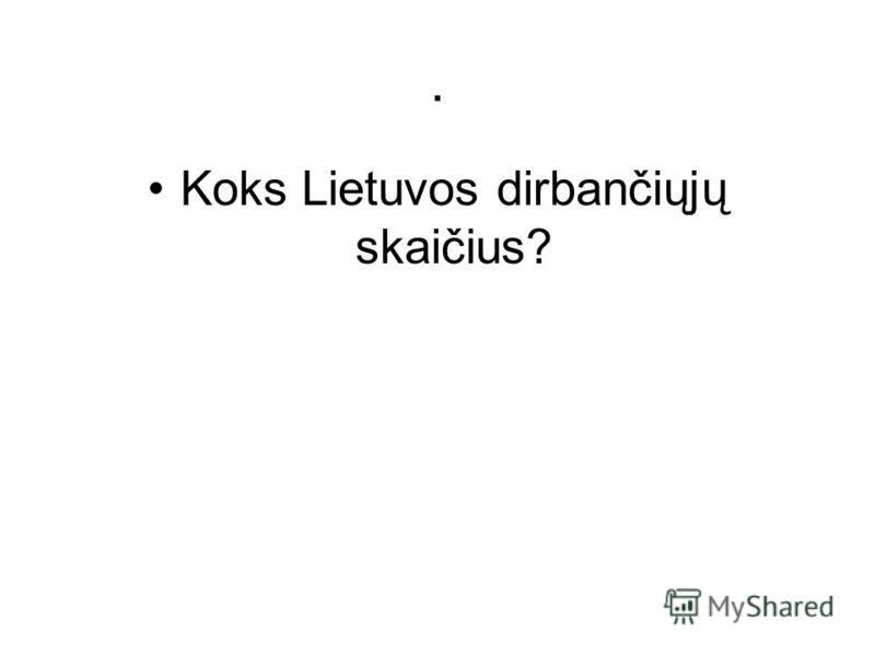 . Koks Lietuvos dirbančiųjų skaičius?