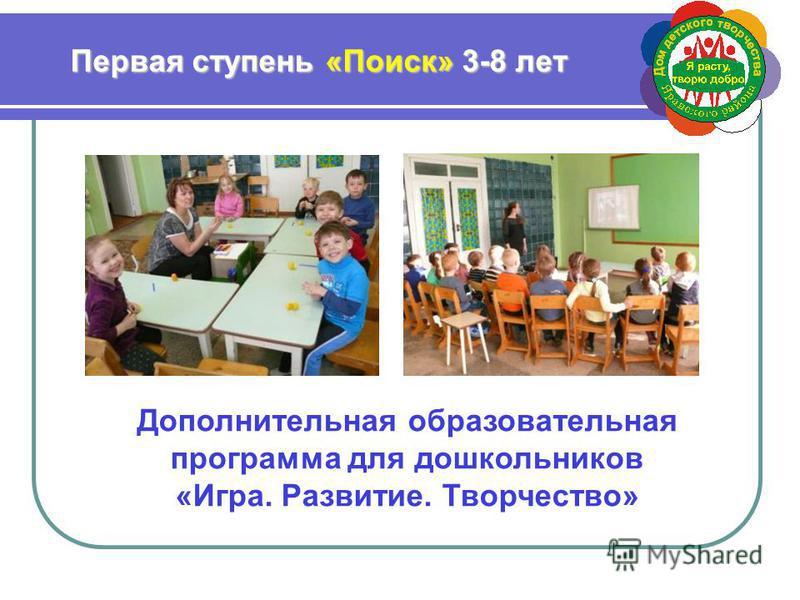 Дополнительная образовательная программа для дошкольников «Игра. Развитие. Творчество»