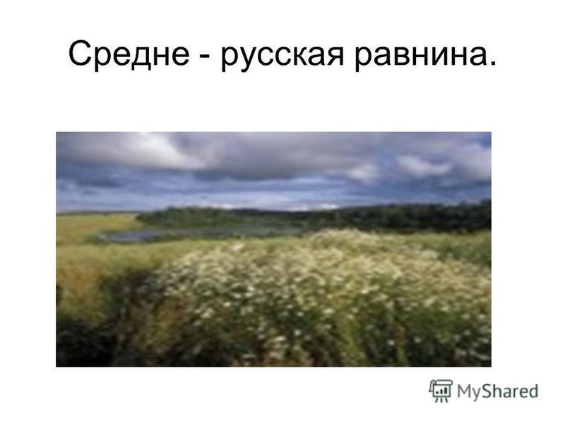 Средне - русская равнина.