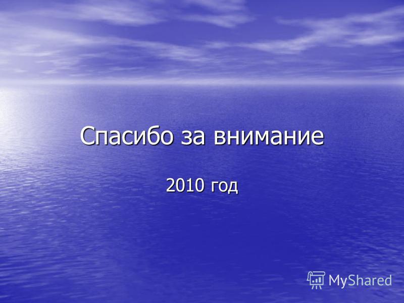 Спасибо за внимание 2010 год
