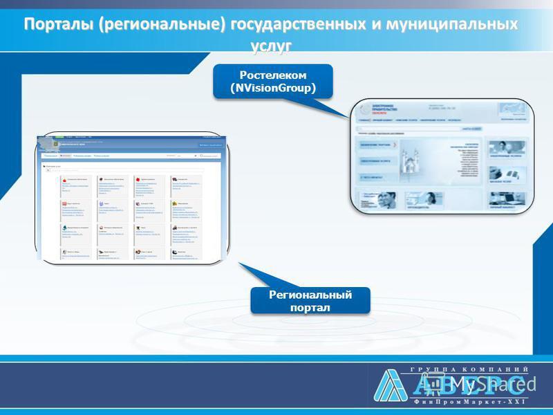 Порталы (региональные) государственных и муниципальных услуг Региональный портал Ростелеком (NVisionGroup) Ростелеком (NVisionGroup)