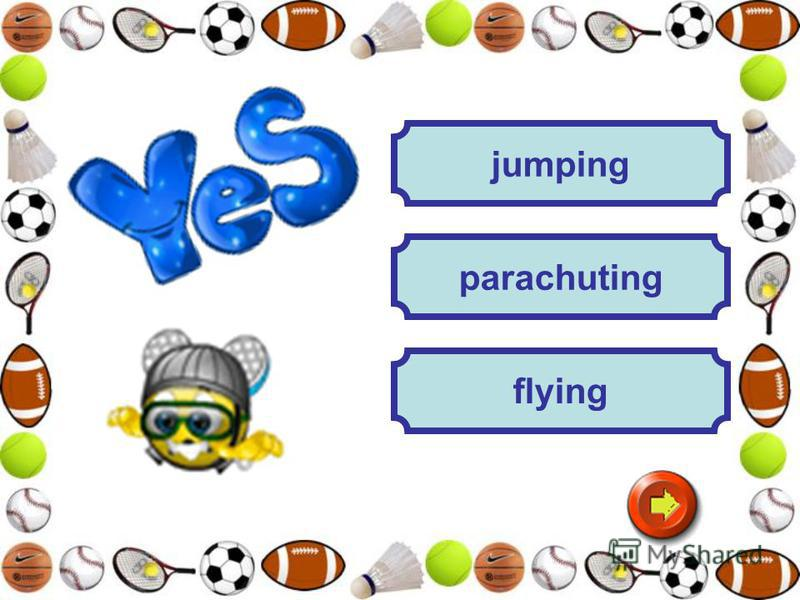 jumping flying parachuting