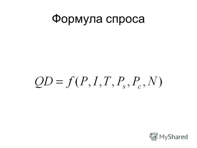 Формула спроса