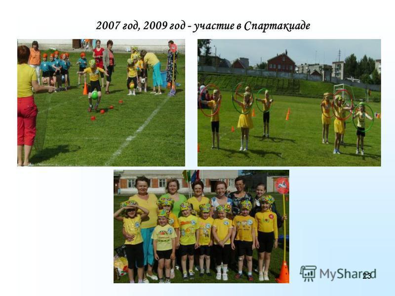 23 2007 год, 2009 год - участие в Спартакиаде