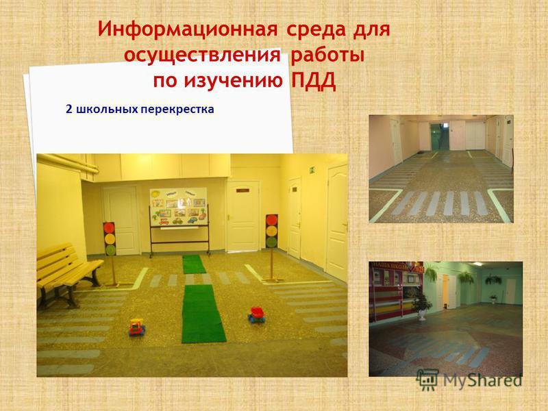 Информационная среда для осуществления работы по изучению ПДД 2 школьных перекрестка