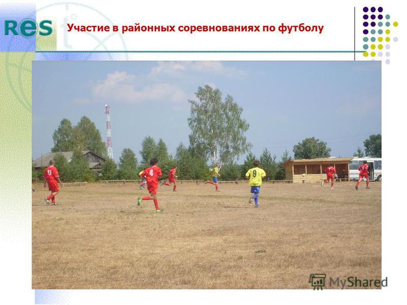 Участие в районных соревнованиях по футболу