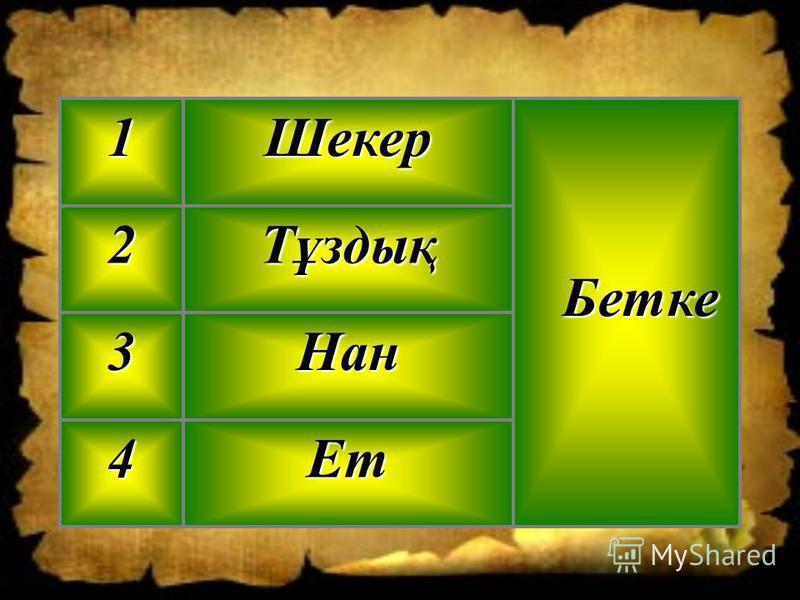 Ет4 Нан3 Тұздық2 Бетке БеткеШекер1